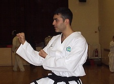 Taekwondo instructor: Mr S Sampath